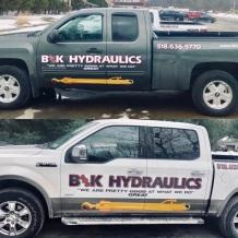 B&K Hydraulics trucks